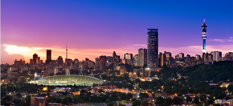 johannesburg city line at night