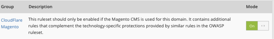 CloudFlare Magento Rule