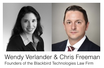 Wendy Verlander and Chris Freeman, the Founders of the Blackbird Technologies Law Firm