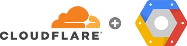 Cloudflare and Google Cloud Platform logos