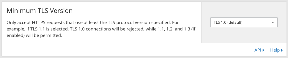Deprecating TLS 1.0 and 1.1 on api.cloudflare.com