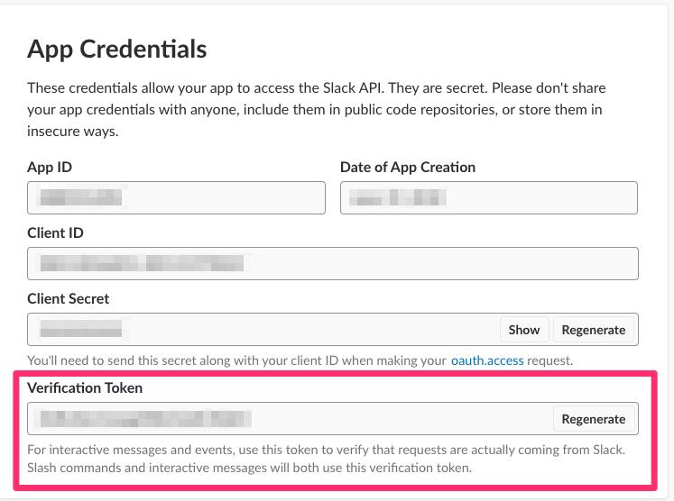 Slack: Fetch App Credentials