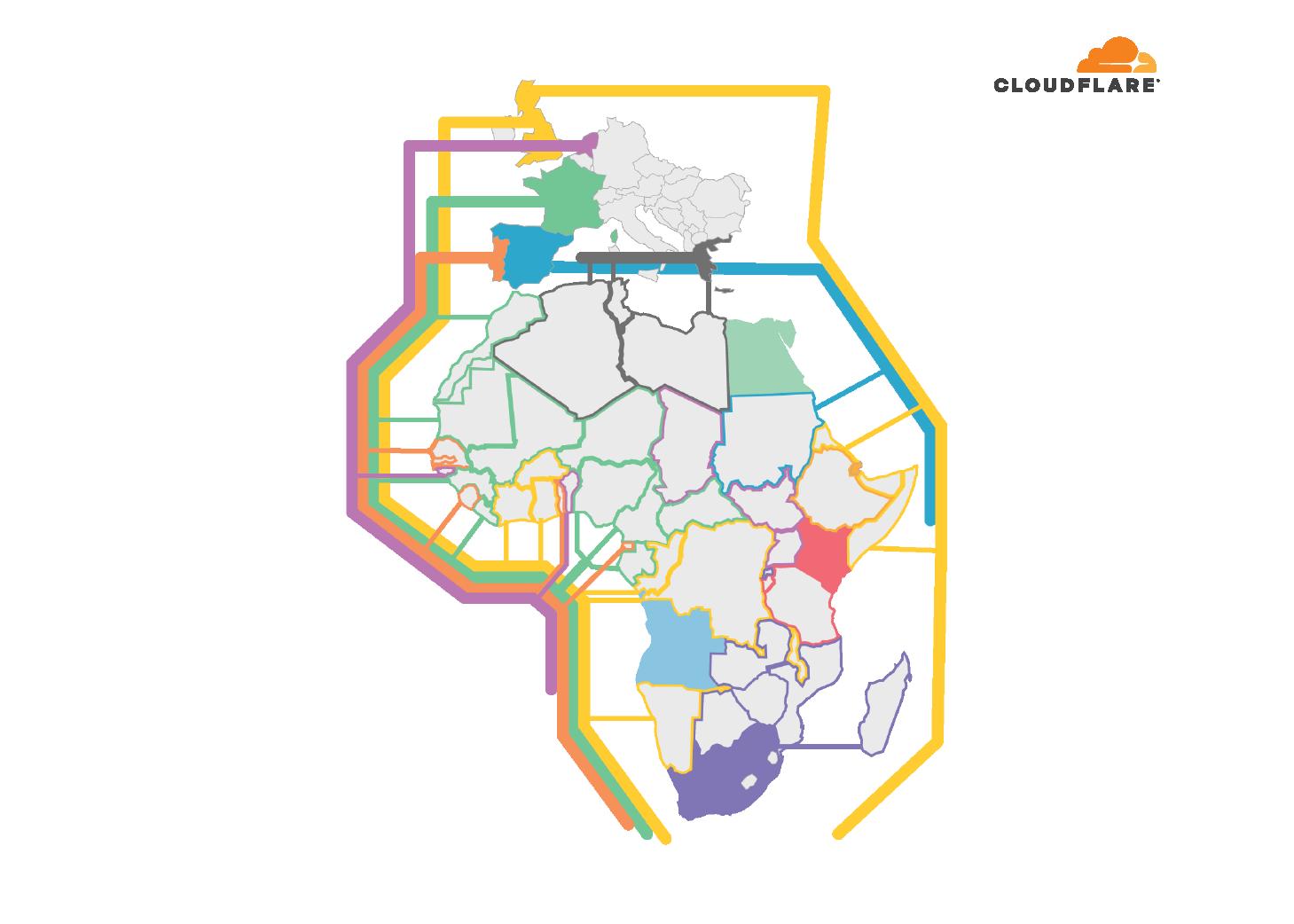 Africa next-hop Cloudflare datacenter