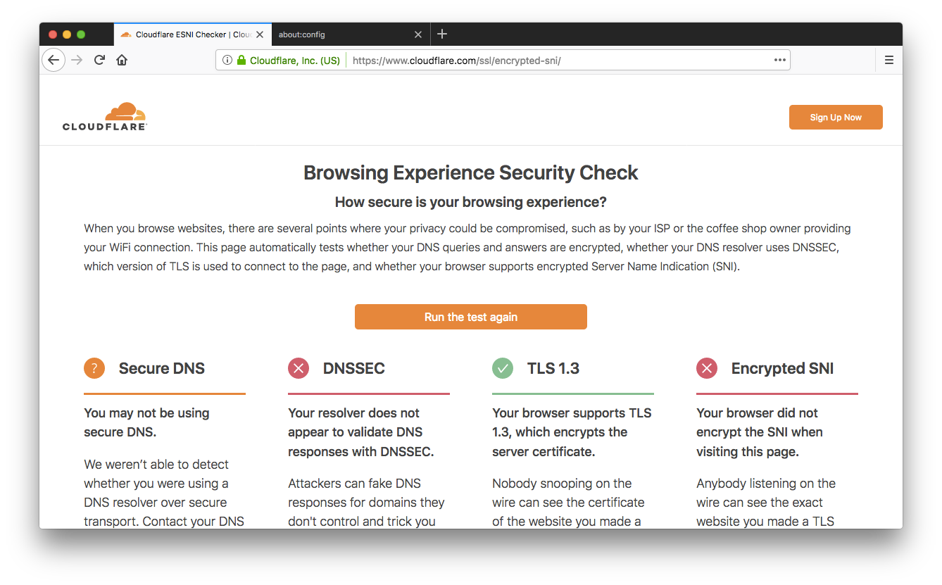 Encrypt that SNI: Firefox edition