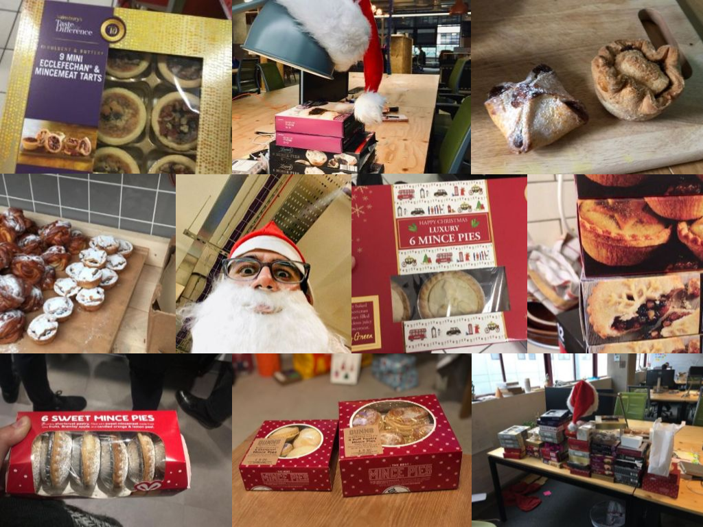 Mince pie collecting collage