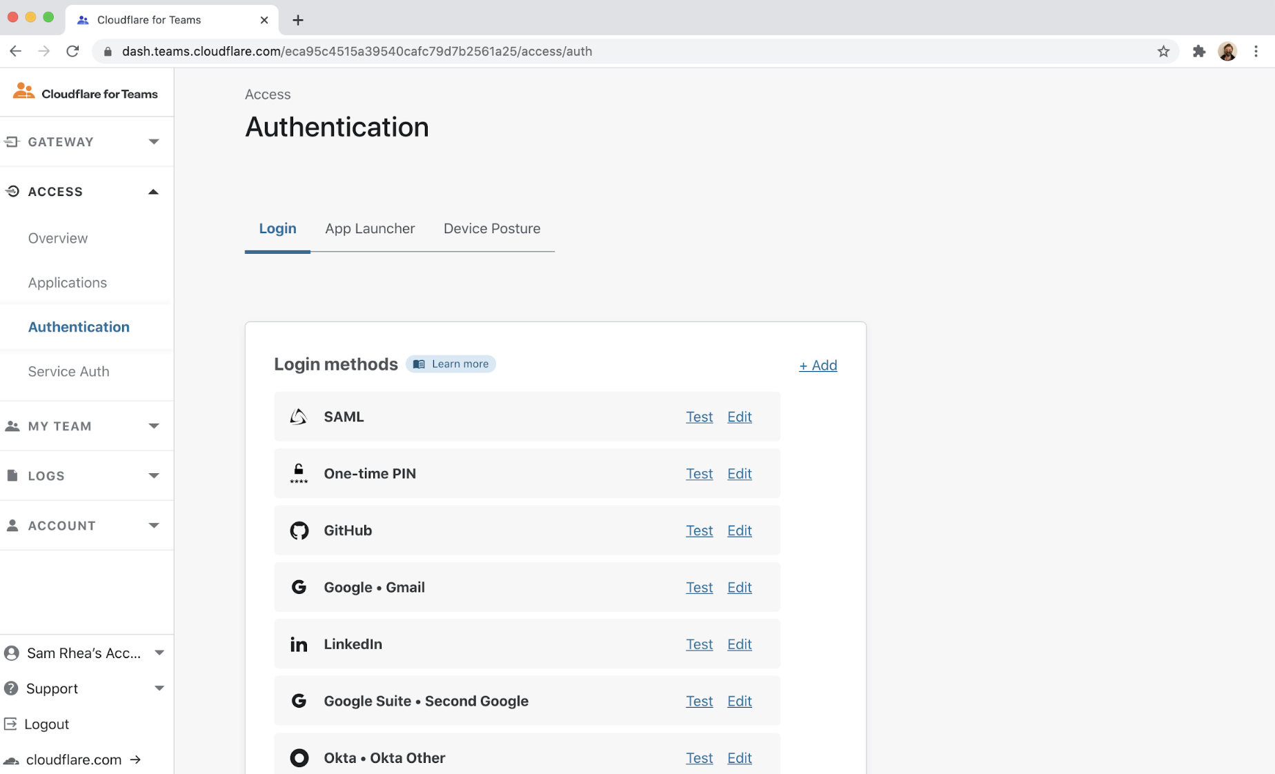 Configure identity-based policies in Cloudflare Gateway