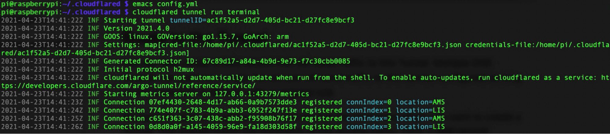 SSHing to my Raspberry Pi 400 from a browser, with Cloudflare Tunnel and Auditable Terminal