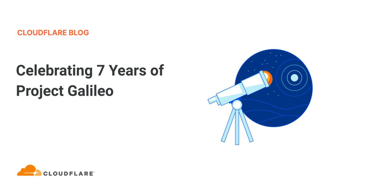 Every June, we celebrate the anniversary of Project Galileo. This year, we are proud to celebrate seven years of protecting the most vulnerable groups