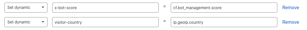 Modify HTTP request headers with Transform Rules