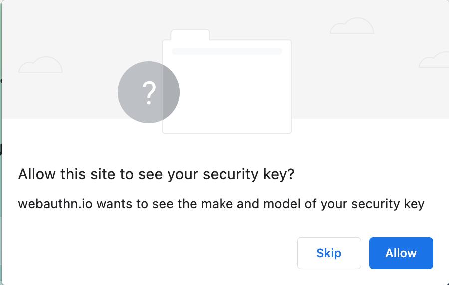 浏览器警告示例。