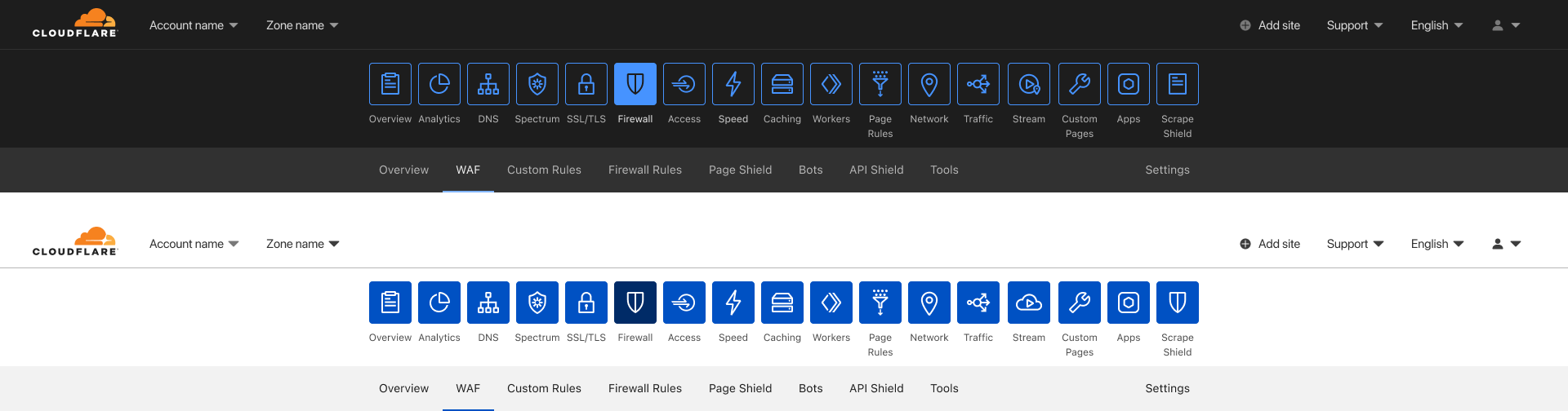 Dark Mode for the Cloudflare Dashboard