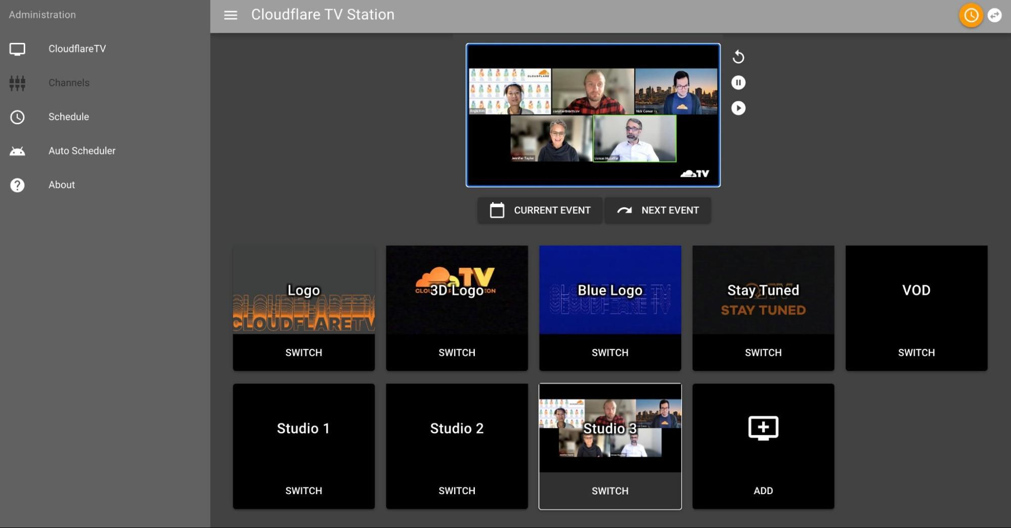 The CFTV Switchboard (Now streaming: Latest from Product & Engineering)