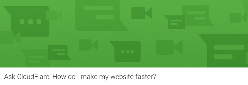 how to make website faster