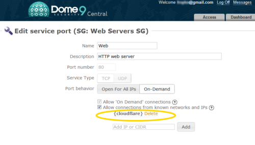 Dome9 + CloudFlare = Combined Security For Your Website and Web Server